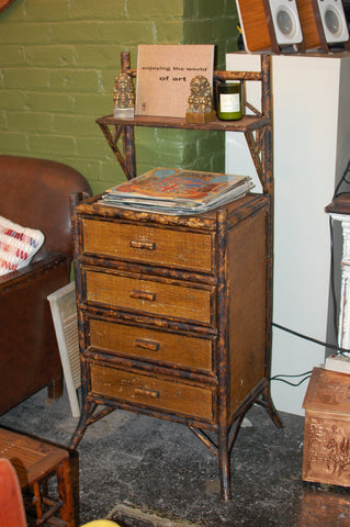 Antique Bamboo Dresser