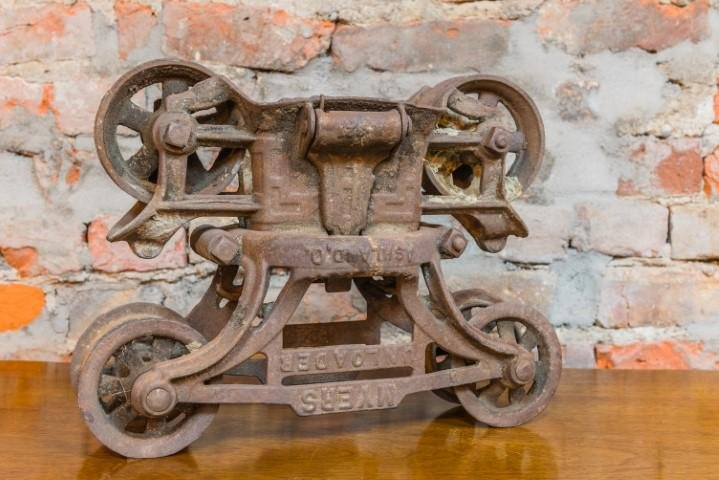 Antique Iron Pulley - Bloodline Merchants