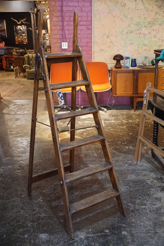 Antique Step Ladder - Bloodline Merchants