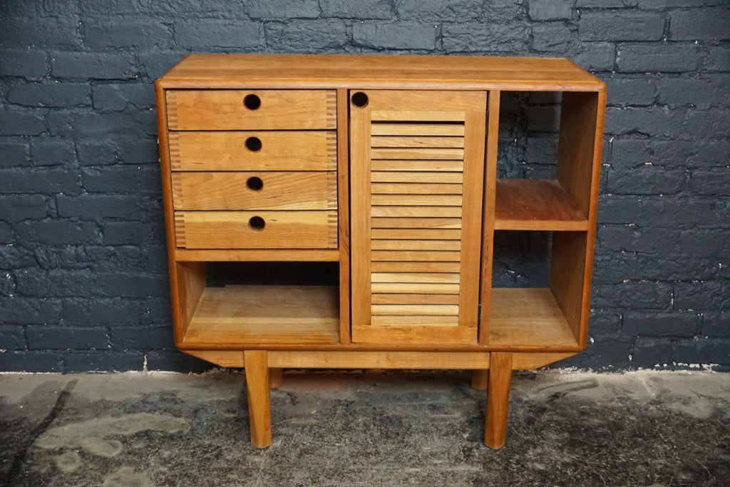 Artisan crafted solid cherry liqueur cabinet sideboard - Bloodline Merchants