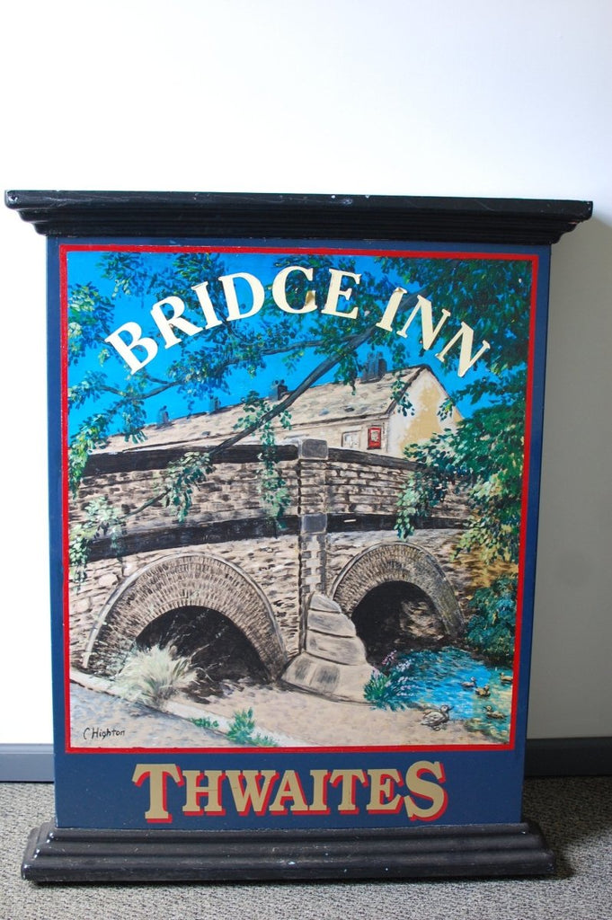 Authentic double-sided hand painted English pub sign - Bridge Inn - Bloodline Merchants