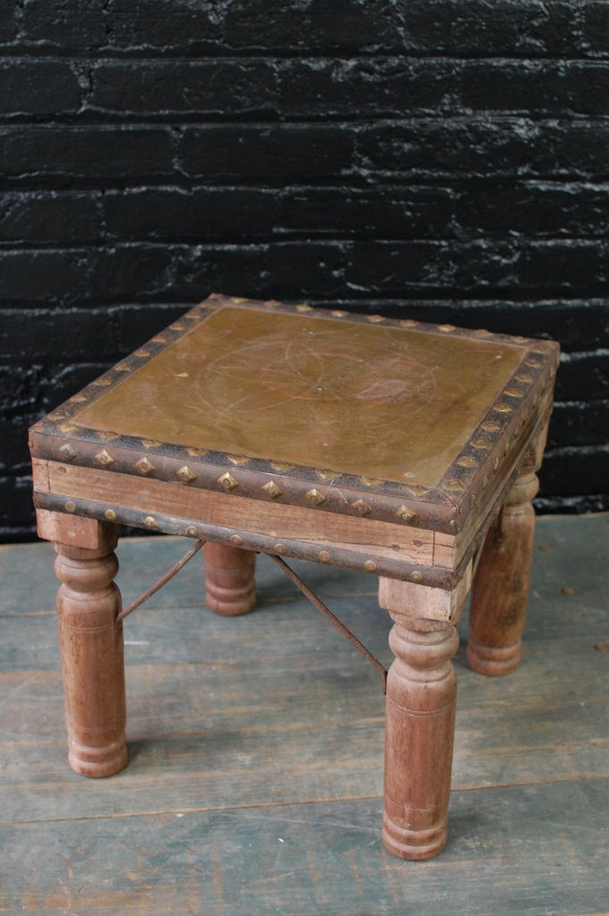 Brass Top Stool - Bloodline Merchants