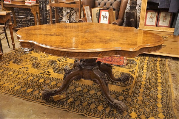 Burr Walnut Breakfast Table - Bloodline Merchants