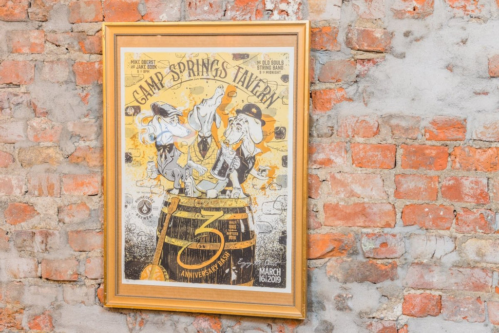 Camp Springs Tavern Framed Poster - Bloodline Merchants