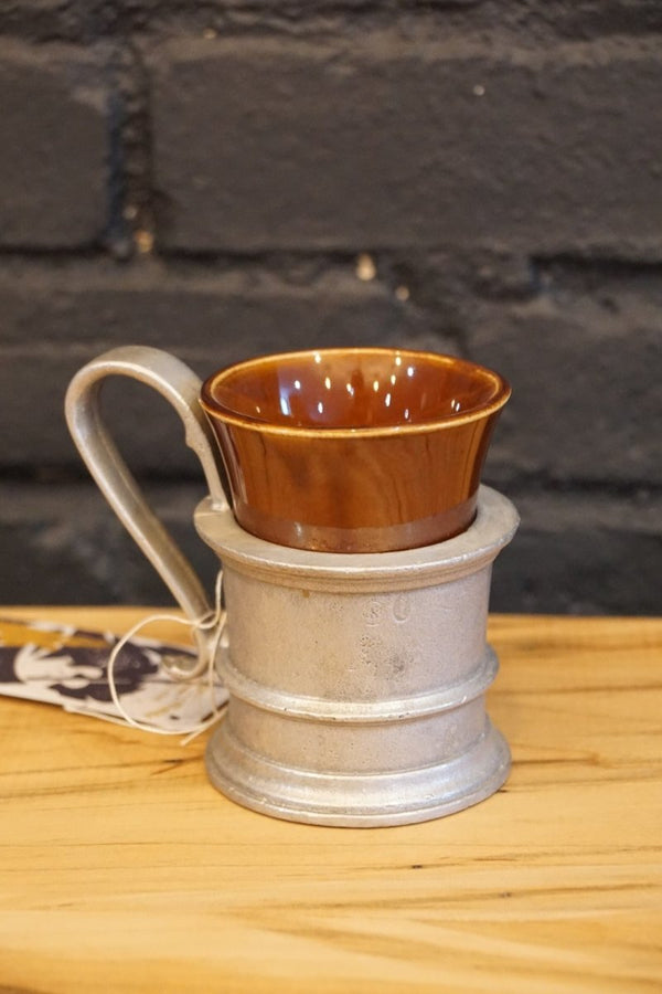 Ceramic and Metal Coffee Cup - Bloodline Merchants