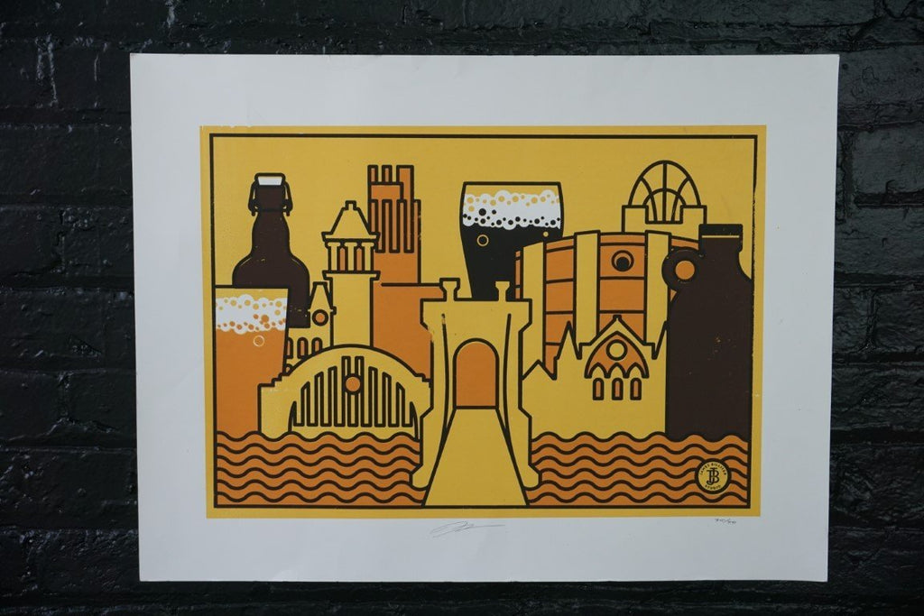Cincinnati and Beer Poster - Bloodline Merchants