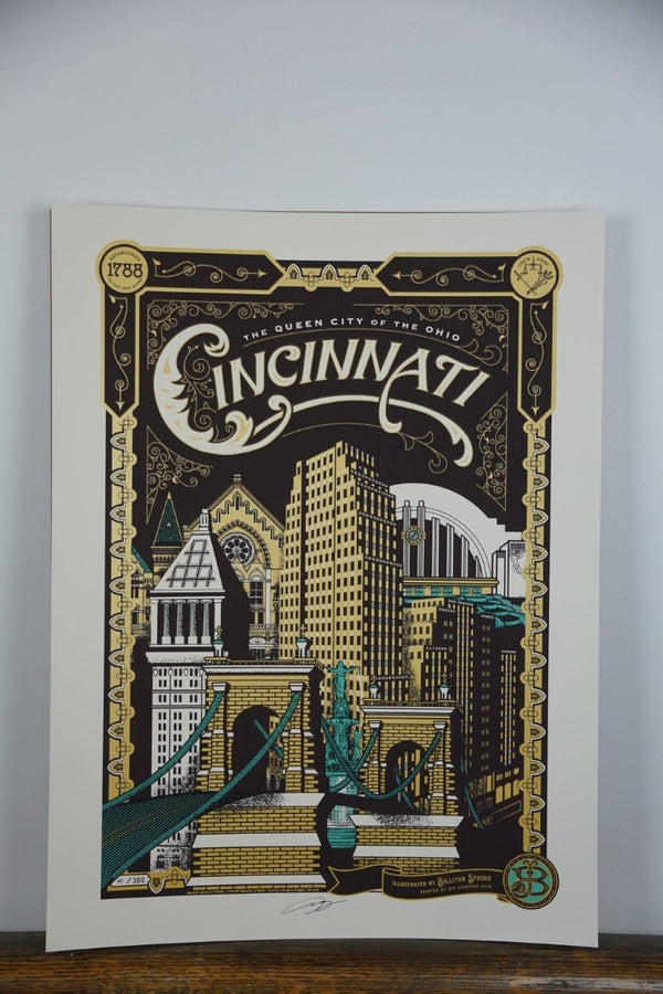 Cincinnati Poster - Bloodline Merchants