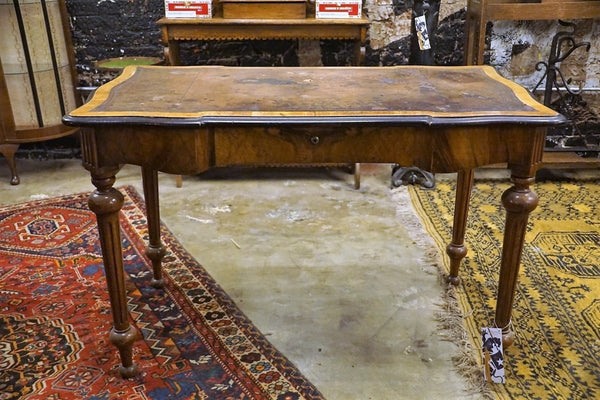 Ebonized and Burr Walnut Writing Table - Bloodline Merchants
