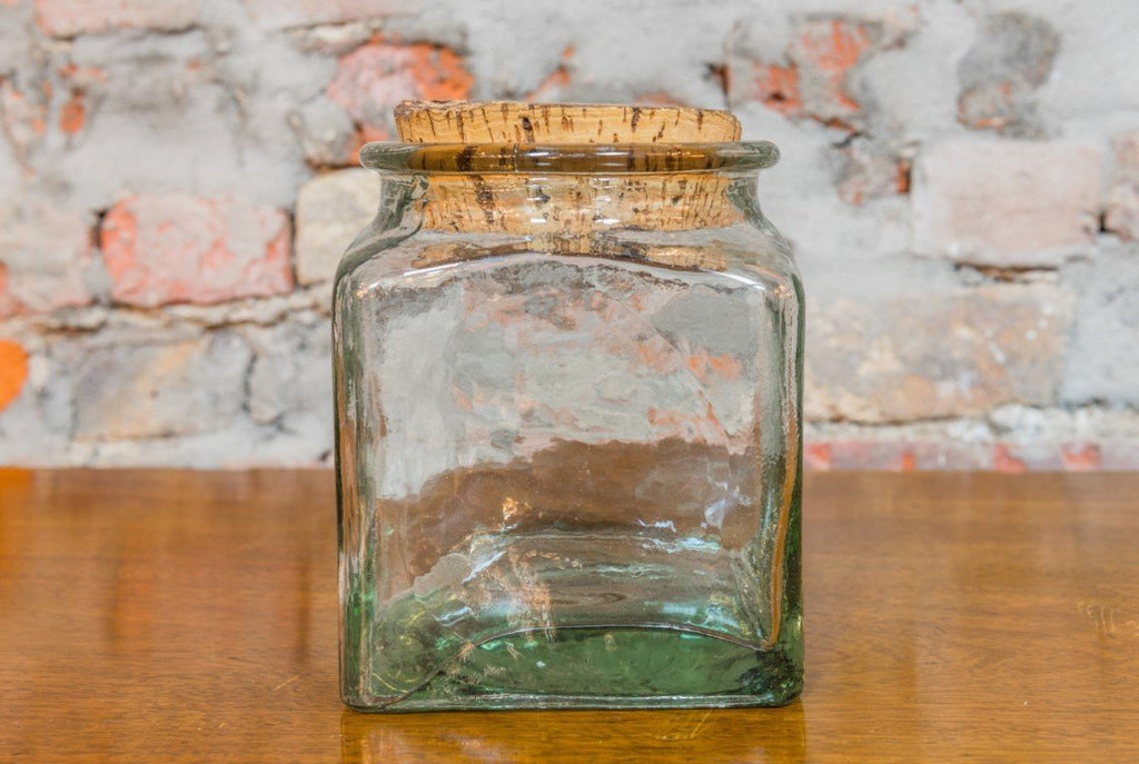 Glass Square Jar with Cork - Bloodline Merchants