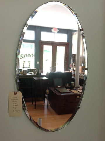 Victorian Mirror - Oval with Beveled Edge