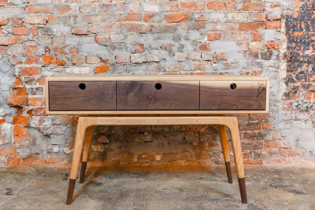 Kirby Furniture Red Oak and Walnut Console - Bloodline Merchants