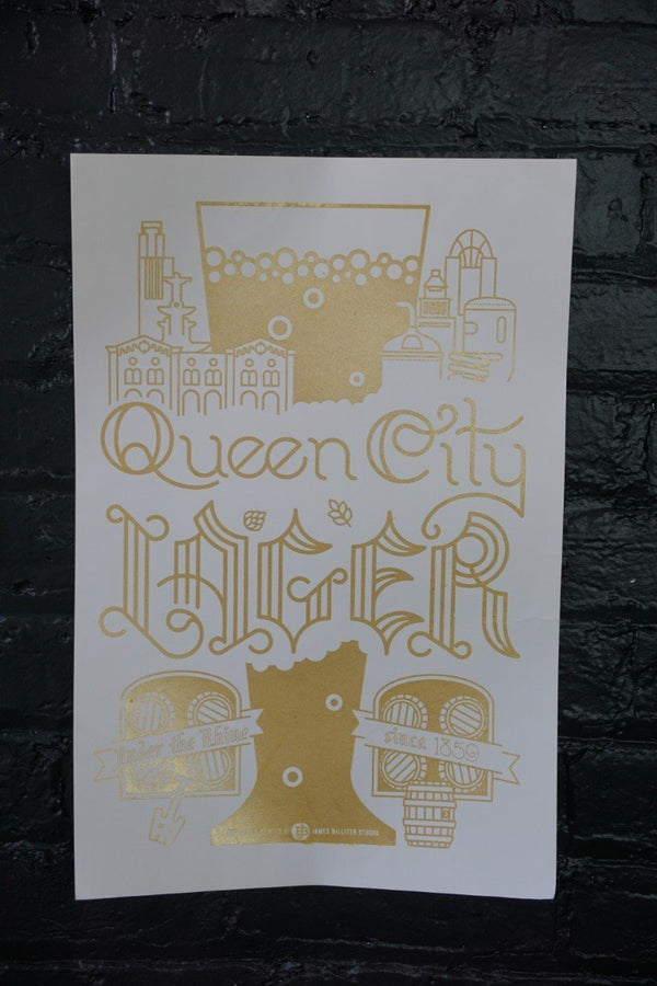 Queen City Lager Poster - Bloodline Merchants