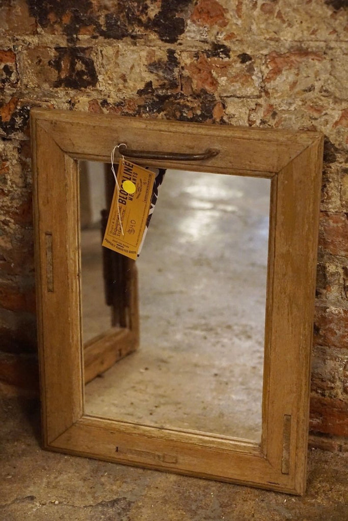 Repurposed Wood Framed Mirror (Small) - Bloodline Merchants