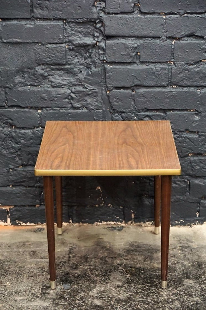Small Mid Century Square End Table - Bloodline Merchants