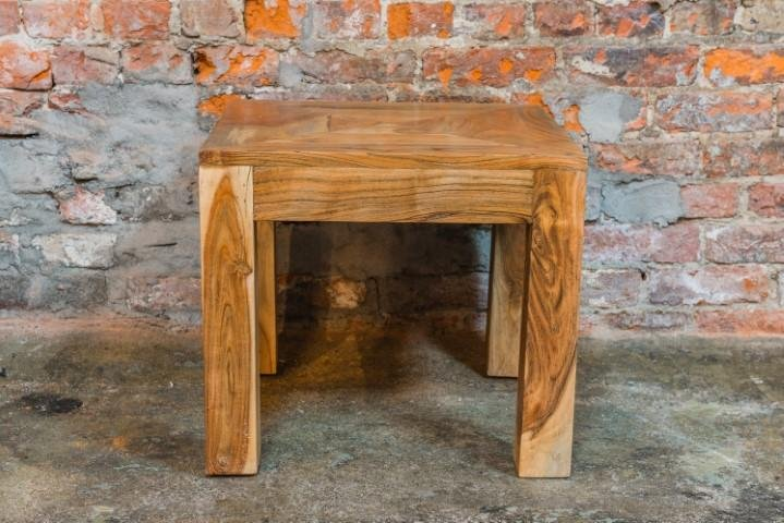 Solid Mango Wood Side Table - Bloodline Merchants