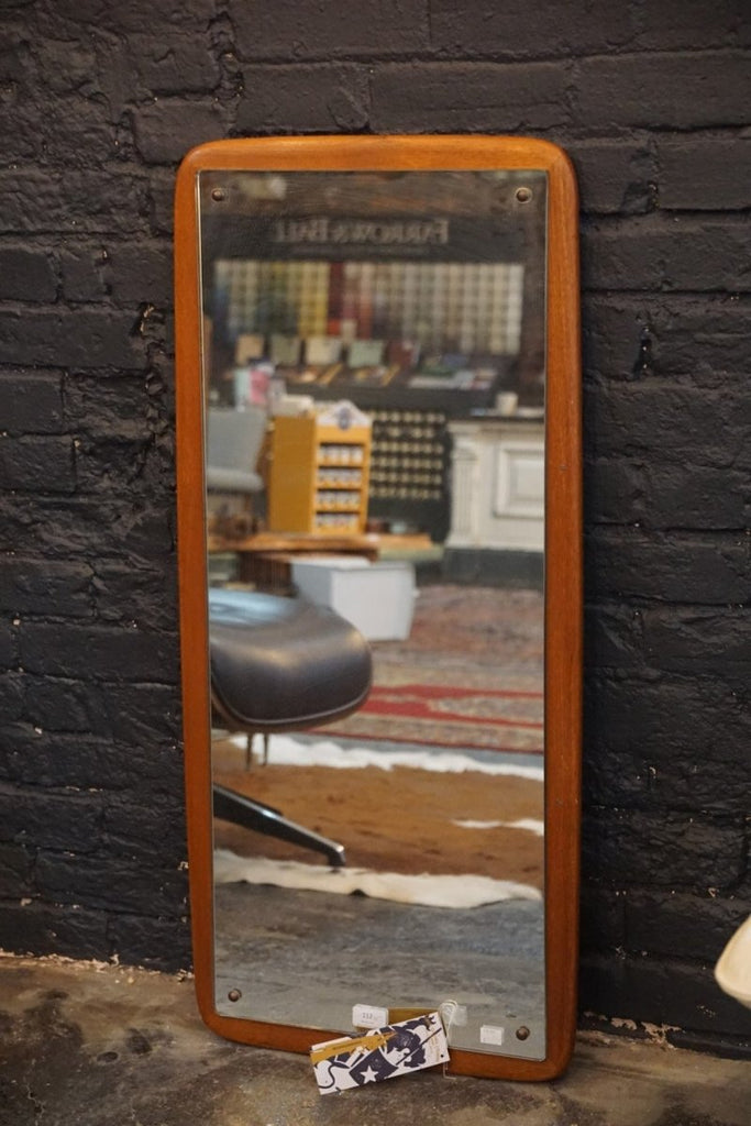 Teak Mid Century Mirror - Bloodline Merchants