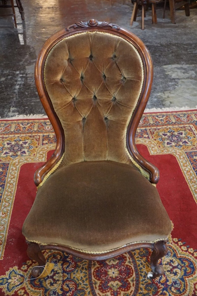 Victorian Mahogany Balloon Back Chair - Bloodline Merchants