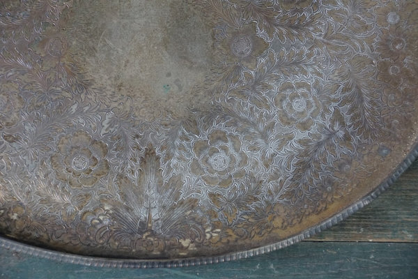 Victorian Plated Silver Drinks Tray - Bloodline Merchants
