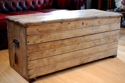 Victorian Pine Coffee Table/Blanket Box