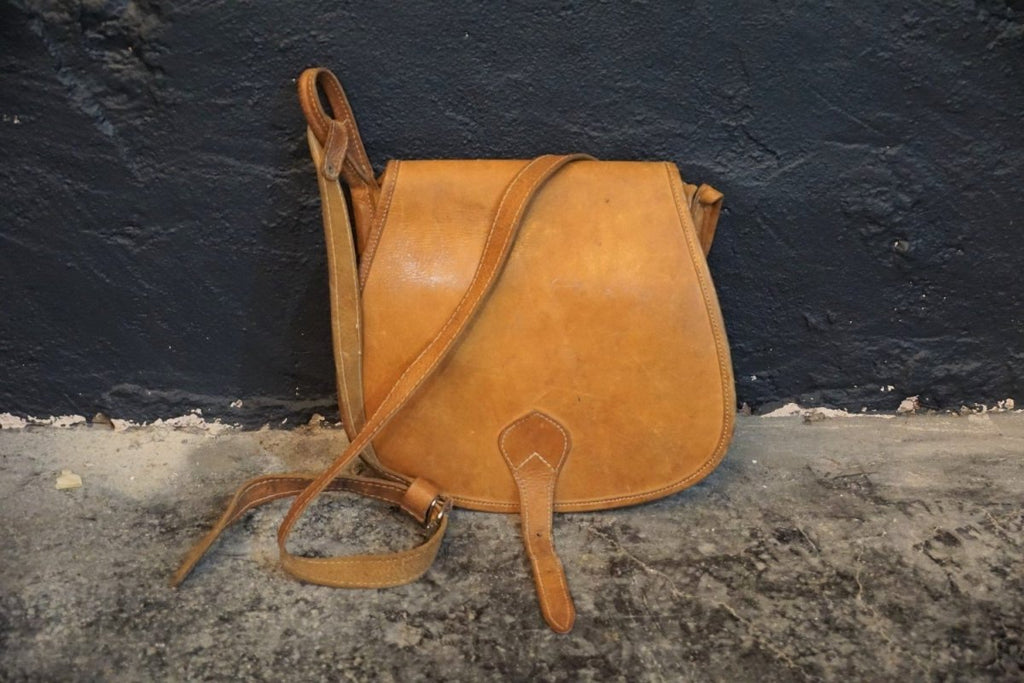 Vintage Leather Satchel / Purse - Bloodline Merchants