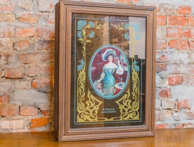Vintage Pepsi-Cola Hanging Mirror Cabinet - Bloodline Merchants