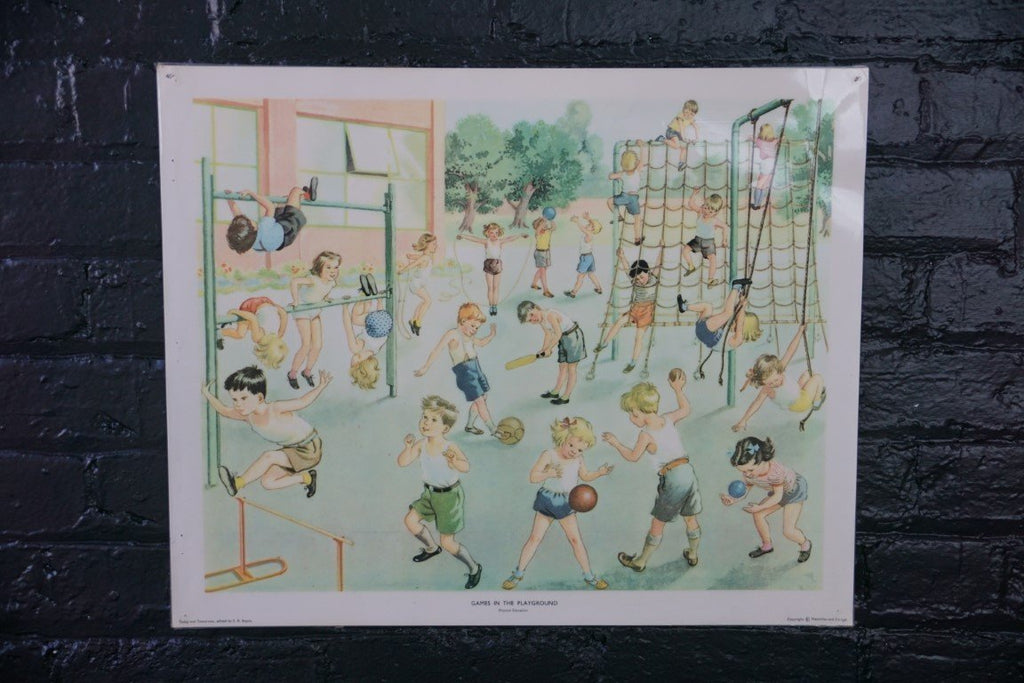 Vintage Poster- Games in the Playground - Bloodline Merchants