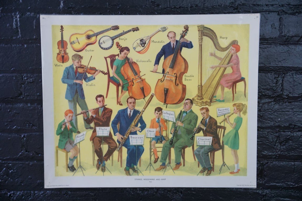 Vintage Poster- Strings, Woodwind and Harp - Bloodline Merchants