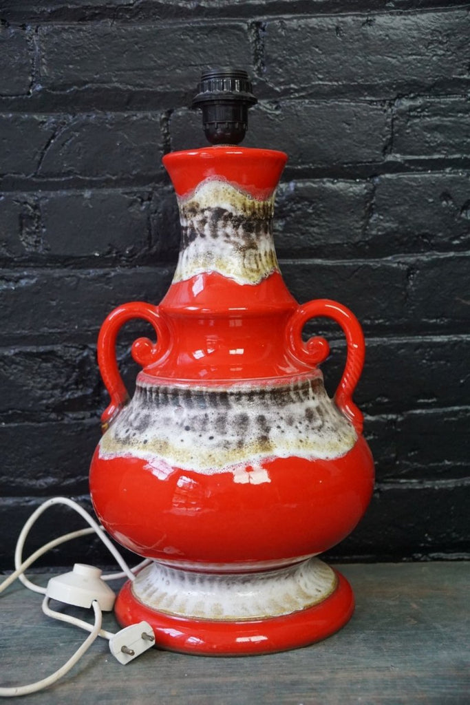 Vintage West German Lava Pottery Lamp - Bloodline Merchants