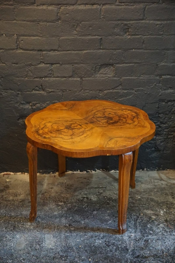 Walnut Veneer Side Table - Bloodline Merchants