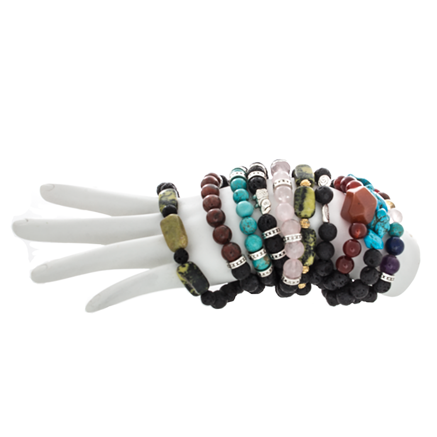 Day 11 - Dec 13th - Lave Bead Infusion Crossover Bracelets