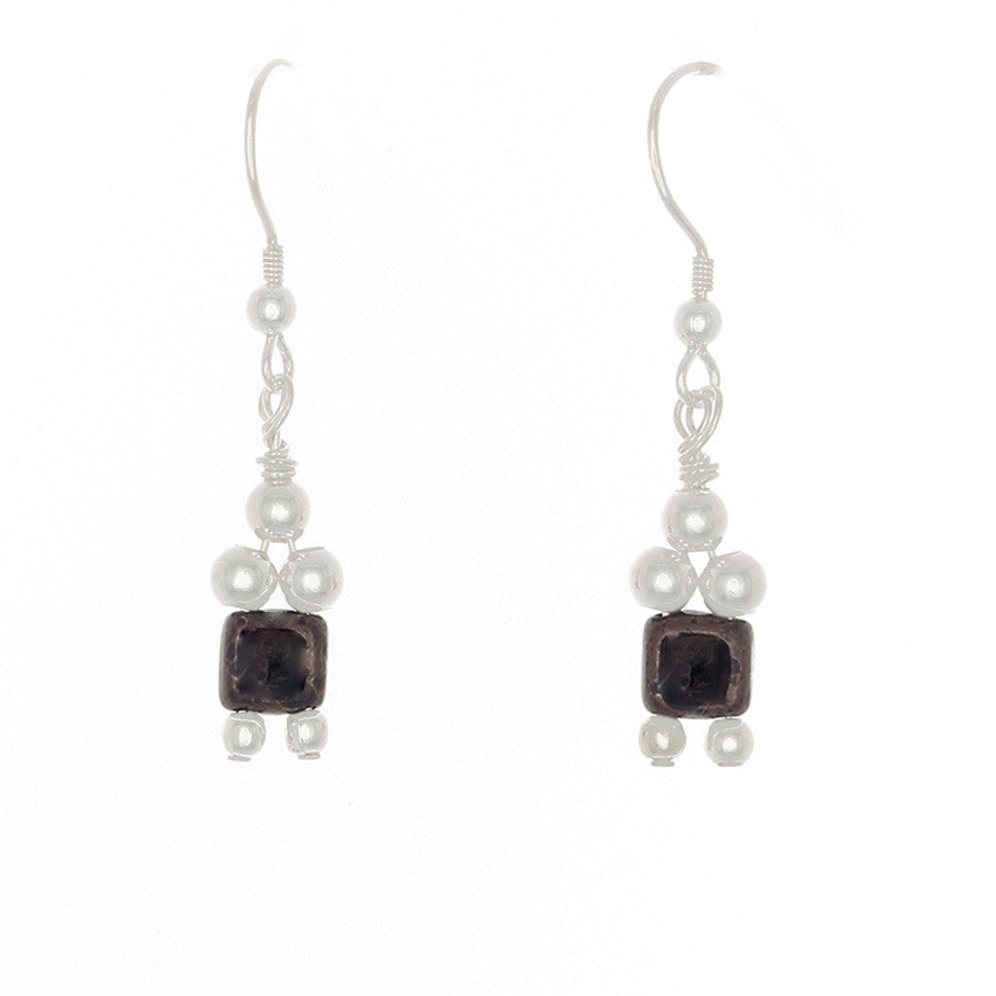 1 Crystal Bead Drop with Sterling Beads on French Hooks - Finesse Jewelry