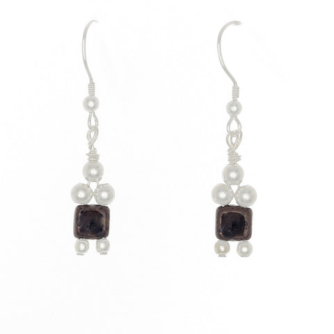 1 Crystal Bead Drop with Sterling Silver Beads on French Hooks - Finesse Jewelry