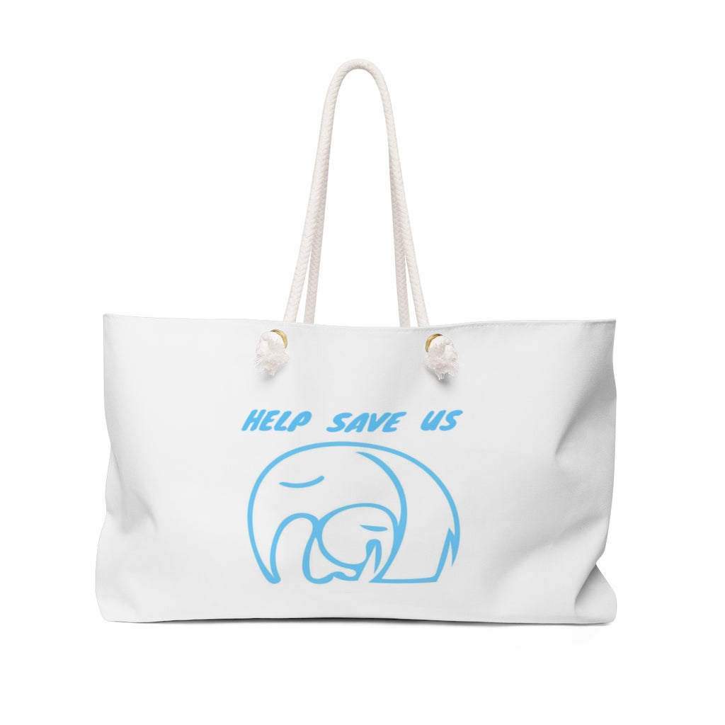 Weekender Bag with Save Elephant Design - Finesse Jewelry