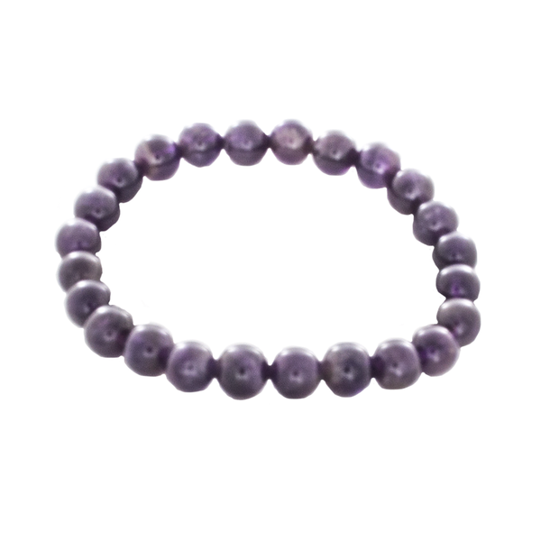 "Amethyst ""Mala"" Stretchy Bracelet - Good Feng Shui - Finesse Jewelry"