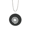 Black Agate Donut Pendant necklace on adjustable leather cord - Finesse Jewelry