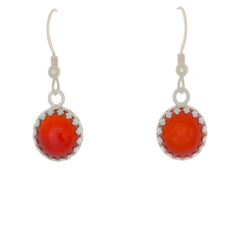 Carnelian Bezel set French Wire Earrings - Finesse Jewelry