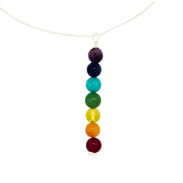 Chakra Pendant on Sterling Silver Chain Necklace