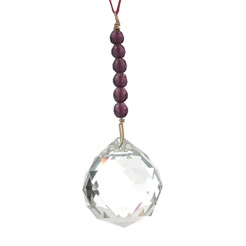 Hanging Crystal for Feng Shui for Wealth and Abundance. 40 mm ball - Finesse Jewelry