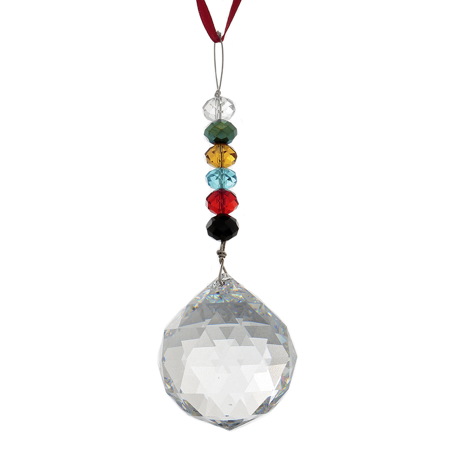Hanging Crystal - Feng Shui - 6 True Colors - 40 mm - Finesse Jewelry