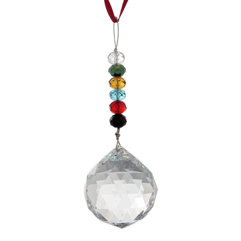 Hanging Crystal - Feng Shui - 6-True Colors - 40 mm