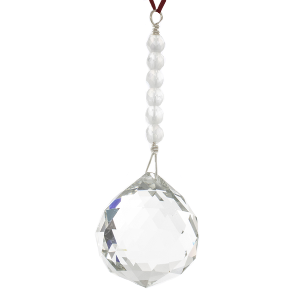 Hanging Crystal for Feng Shui. Creativity Area  40mm Ball - Finesse Jewelry
