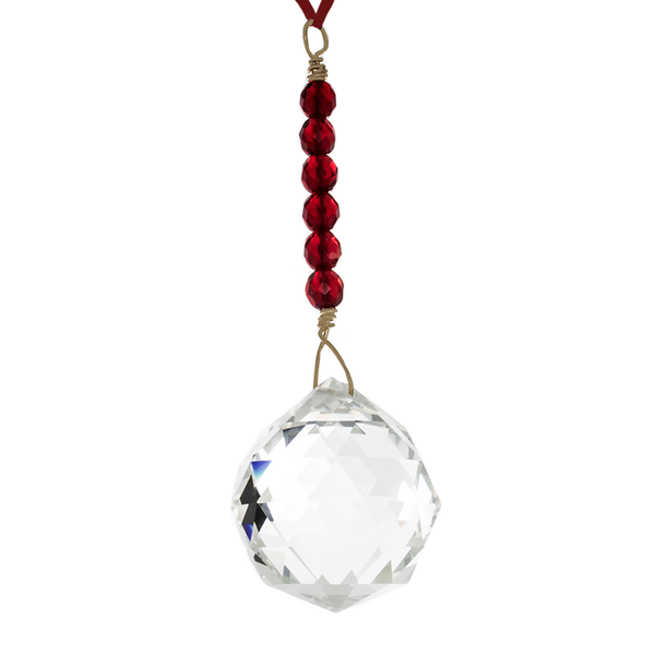 Hanging Crystal - Feng shui - Reputation/Fame - 40 mm