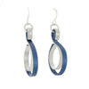 Curve Wave Earrings in Blue (with various secondary colors) on French Hooks - Finesse Jewelry
