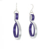 Curve Wave in Silver (with various secondary colors) on French Hook Earrings - Finesse Jewelry