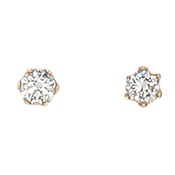 Desert Diamond round stud earrings - 18k gold - 1/2 total carat weight