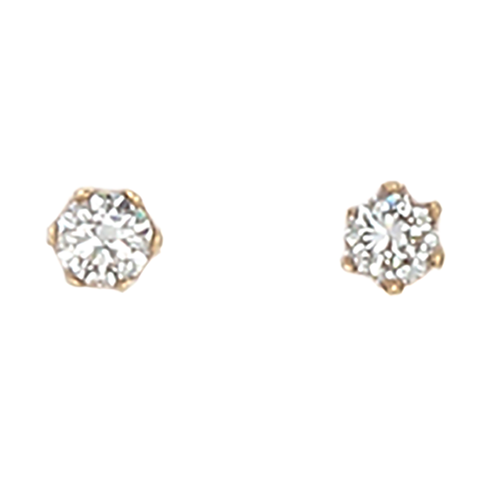Desert Diamond round stud earrings - 18k gold - 1/2 total carat weight - Finesse Jewelry