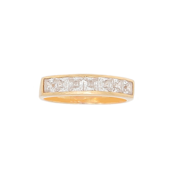Desert Diamond Channel set with 3 1/2 Karats of Princess cut Stones- 18K gold