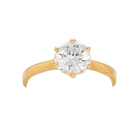 Desert Diamond 2 1/2 K round solitaire Ring- 18K gold - Finesse Jewelry