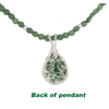 Emerald Necklace-Stering Silver Wrapped Pendant & Faceted Emerald Beads - Finesse Jewelry