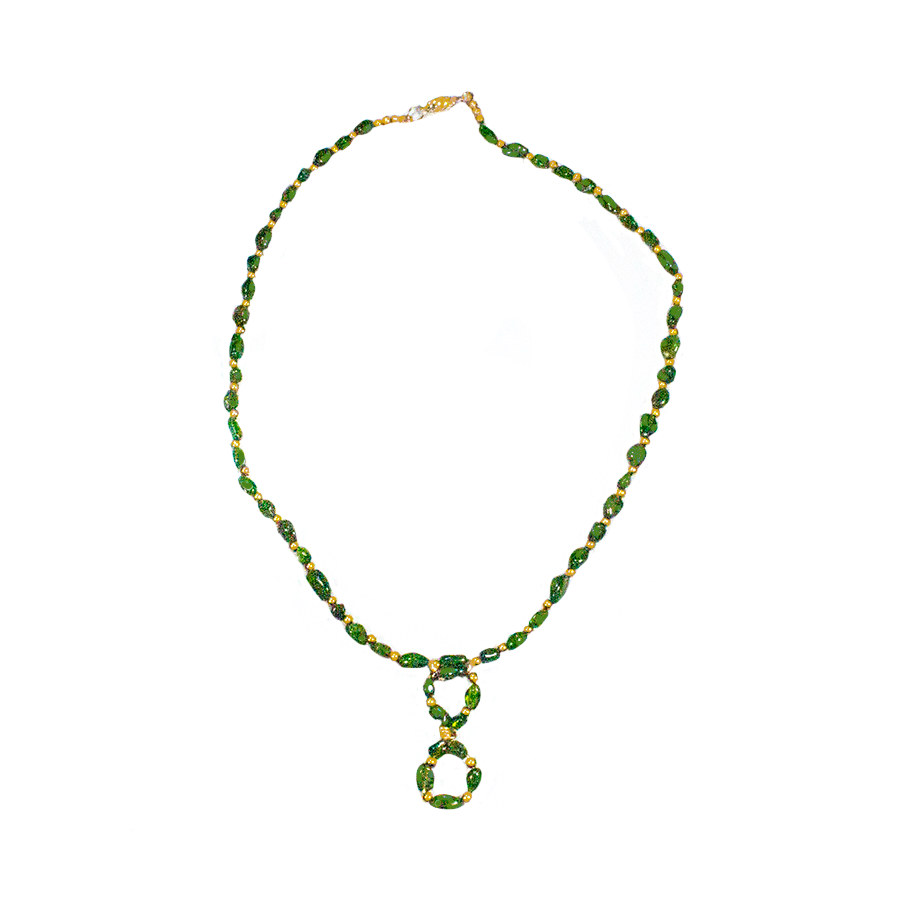Emerald Infinity with Gold Necklace - Finesse Jewelry